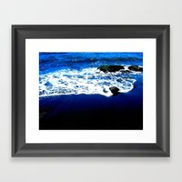 Black Sand Beach Framed Art Print