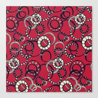 Honolulu hoopla red Canvas Print