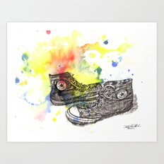 Converse Sneakers Painting Art Print