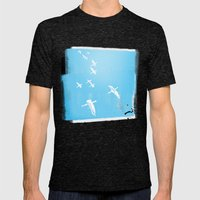 Flock of Birds Mens Fitted Tee Tri-Black SMALL