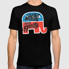 This Machine Elects Fascists SMALL Black Mens Fitted Tee