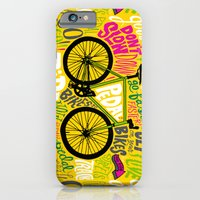 iPhone & iPod Case featuring RIDE YOUR BIKES by Chris Piascik