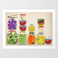 Bottled Pickles And Frui… Art Print