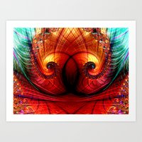 The Eyes Have It Fractal Art Print
