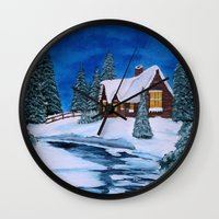 Winter Landscape-1 Wall Clock