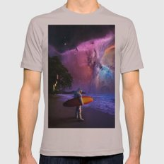 Space Surfer Mens Fitted Tee Cinder SMALL
