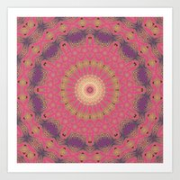 Magenta Sunset Art Print