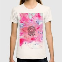 Versace Medusa  Womens Fitted Tee Natural SMALL