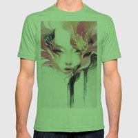 Bauhinia Mens Fitted Tee Grass SMALL