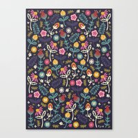 Ditsy Flowers Canvas Print