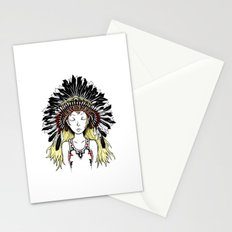 Native American Girl (colored) Stationery Cards