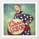 Circus Liquor, N. Hollywood, CA. Art Print