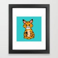 Little Ginger Tabby Framed Art Print