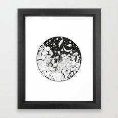 Cartoon Night Framed Art Print
