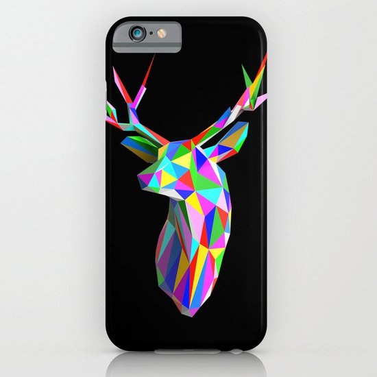 3D Stag Black Background iPhone & iPod Case