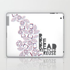 read, recycle, reuse Laptop & iPad Skin