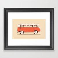 Red Van Framed Art Print