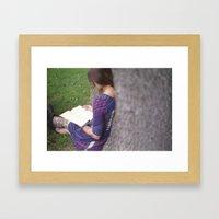 Bookish Framed Art Print