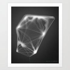 Water Diamond Art Print