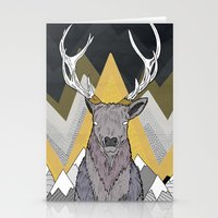 Silver Deer Stationery Cards