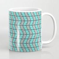 Blue Retro  Mug