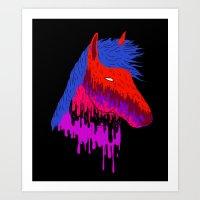 The Psychedelic Melt Art Print