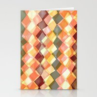 Watercolour and digital diamond pattern Stationery Cards
