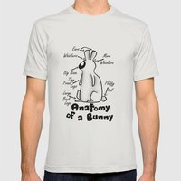 Anatomy Of A Bunny Mens Fitted Tee Silver SMALL