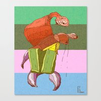 Walking Crab Canvas Print