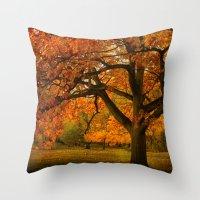 Red Oak Tree  Throw Pillow