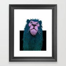 Lion Bust Framed Art Print
