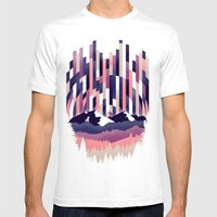 Sunrise in Vertical - Winter Purple Mens Fitted Tee White SMALL