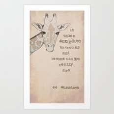 Giraffe for Kelly Art Print