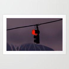 Traffic light Art Print