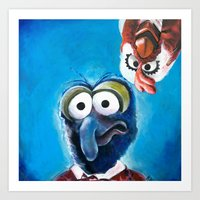 Gonzo And Camilla Muppet… Art Print