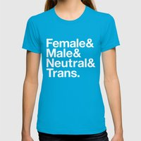 All Equal Genders Womens Fitted Tee Teal SMALL