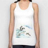 Jumping Penguins - Water… Unisex Tank Top