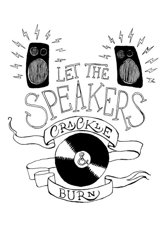 Let the Speakers... Art Print