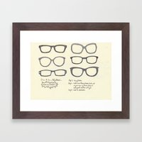 Hipsters Wear Frames, illustrated Framed Art Print
