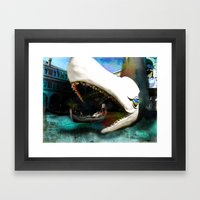 Whale of a Ride Framed Art Print