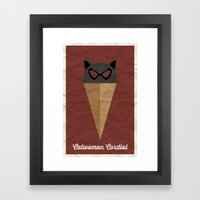 Catwoman Cordial Framed Art Print