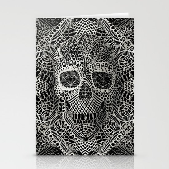 Lace Skull Stationery Card
