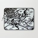 Forget Me Not Black & White  Laptop Sleeve