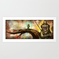 Monkey King Art Print