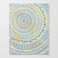 Mandala Doodle Canvas Print