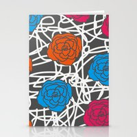 MULTI ROSE SQUIGGLE Stationery Cards