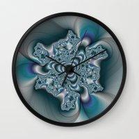 Molten Metal Fractal  Wall Clock