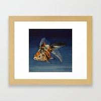Calico Goldfish Framed Art Print