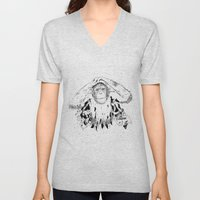 In the shadow of Man Unisex V-Neck