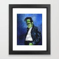 Rebel Frankenstein Framed Art Print